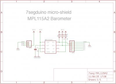 7segduino 気圧計 回路図