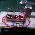 DTH22 humidity sensor on test