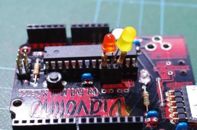 RCduinoでPB6/PB7(Port20/21)にLEDを接続