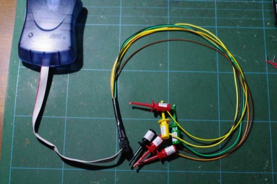 ISP cable with probe