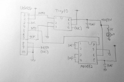 Tiny10 Program adapter schematic